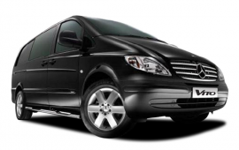 Up to 8 seater minibus carries 8 x PAX 8 x Suitcases 8 x Hand Luggage